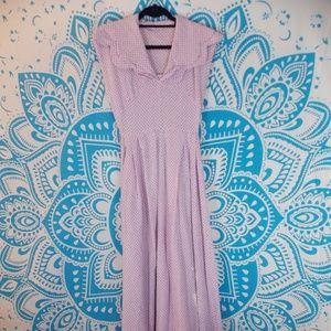 Vintage Handmade Prairie Dress Pink XS Maxi